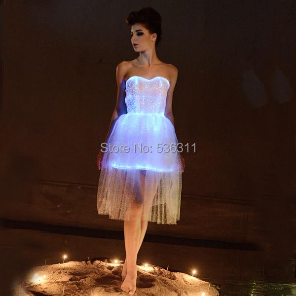 Le Carnaval Décontractés Led Lumière Robes Mode Pour Femmes Rgb Robe Vêtements Parti Lumineux F8vFqpPx