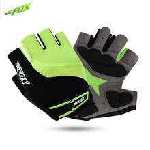 BAT FOX 2017 MTB Cycling Gloves For Men Summer Half Finger Bike Gloves Road Green Fitness