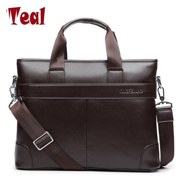 Для мужчин мужская сумка Для мужчин Портфели из искусственной кожи Бизнес сумка Повседневное Tote Сумки Ретро путешествий портативный компьютер Мужские сумки просто точка
