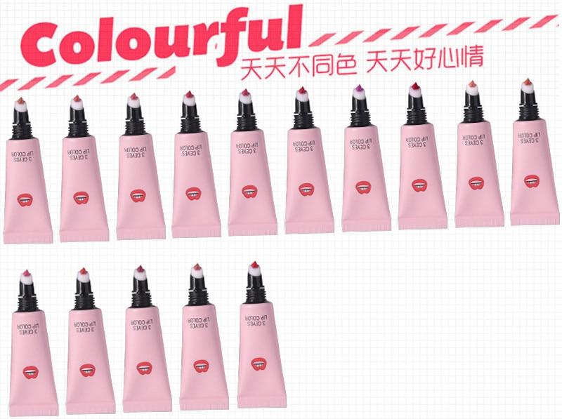 Brand Cute Matte Liquid Lip Gloss 15 Colors Makeup Liquid Lipstick Waterproof Velvet Nude Pigment Red Lip Tint Lips Cosmetic 2