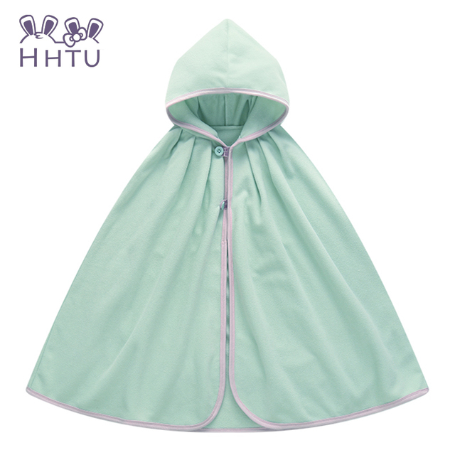 Hhtu bebé abrigo capa doble cara outwear floral bebé capa poncho infantil del bebé capa de los niños clothing