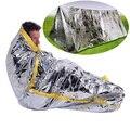Saco de dormir de emergência de primeiros socorros ao ar livre sobrevivência cobertor para sobreviver a preservação do calor e proteção solar