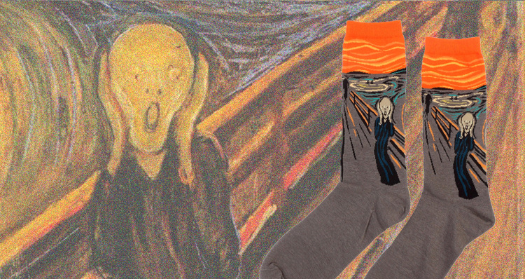 Puuvillased piltidega sokid naistele