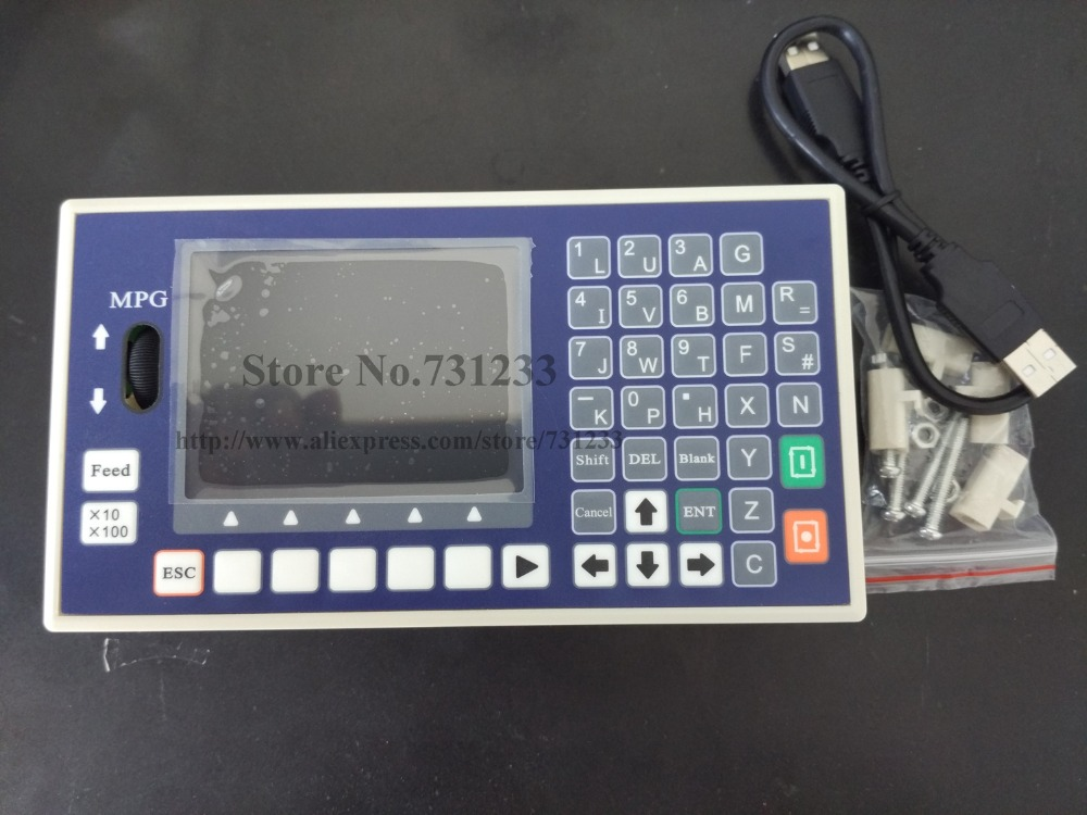 4 axis cnc controller usb port g code spindle control mpg for Cnc servo motor controller
