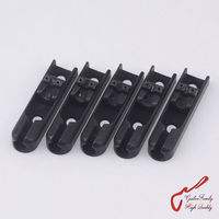 1 مجموعة (5 أجزاء) guitarfamily واحدة سلسلة باس جسر مع تأمين لمدة 5 سلاسل الكهربائية باس (أسود) المحرز في كوريا
