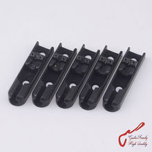 1 Set ( 5 pieces ) GuitarFamily Single-String Bass Bridge With Lock Down For 5 Strings Electric Bass  ( Black ) MADE IN KOREA