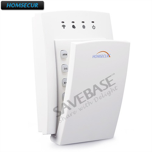 HOMSECUR 433MHz Home Alarm Accessories(Keypad/Pet-Friendly PIR/Flash Siren/Smoke Sensor/etc) For Our 433MHz Home Alarm Systems