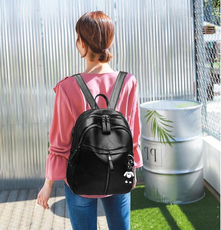 HTB1c5.TN6DpK1RjSZFrq6y78VXau On sale New 2019 Women ladies PU Leather small Backpacks for Teenage Girls Female School Shoulder Bag bag pack mochila
