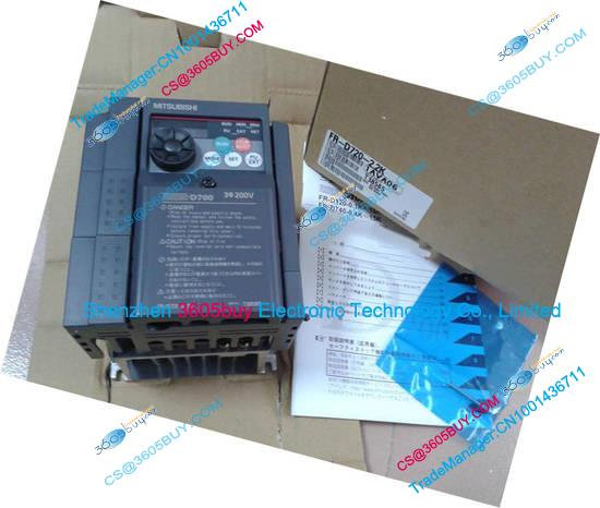 New Original Inverter FR-D720-5.5K 220V Output 3 ph 200~240V 23.8A 5.5KW 0.2~400Hz with keypad