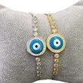New Arrival Evil Eye Bracelet Christmas Gifts Round Shape Shell Pearl Bracelets For Women Girl Charm Braclet & Bangles WB041