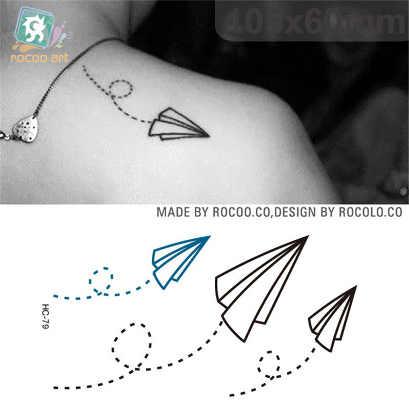 Disposable Waterproof Body Tattoo Tattoo Stickers Paper Plane Sticker HC1079