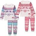 Малыш Мальчики Девочки Рождество костюм Пижамы Наборы Хлопка Дети Мальчик Девочка Одежда Топы + Брюки Пижамы Пижамы Пижамы Pjs набор