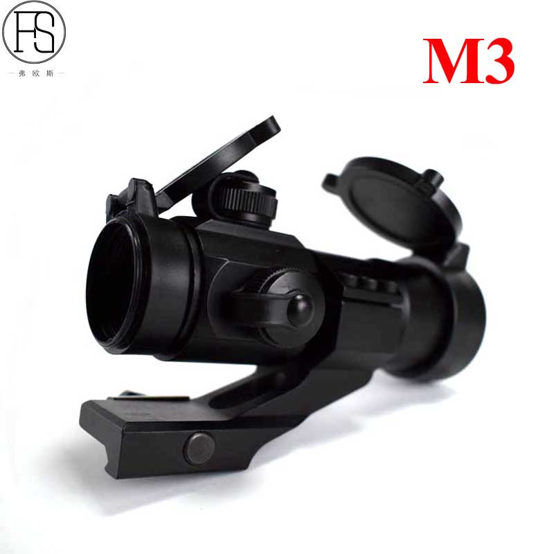 Tactical Hunting Optics Sight Scope M3 Red & Green Dot Sight Scope 20mm Rail Shooting Riflescope Airsoft Sight For CS Wargame
