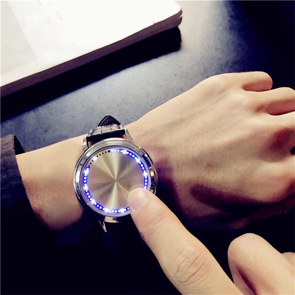 2018 Waterproof LED Watch Men And Women Lovers Watch Smart Electronics Watches  Men Quartz Watches Stainless Steel