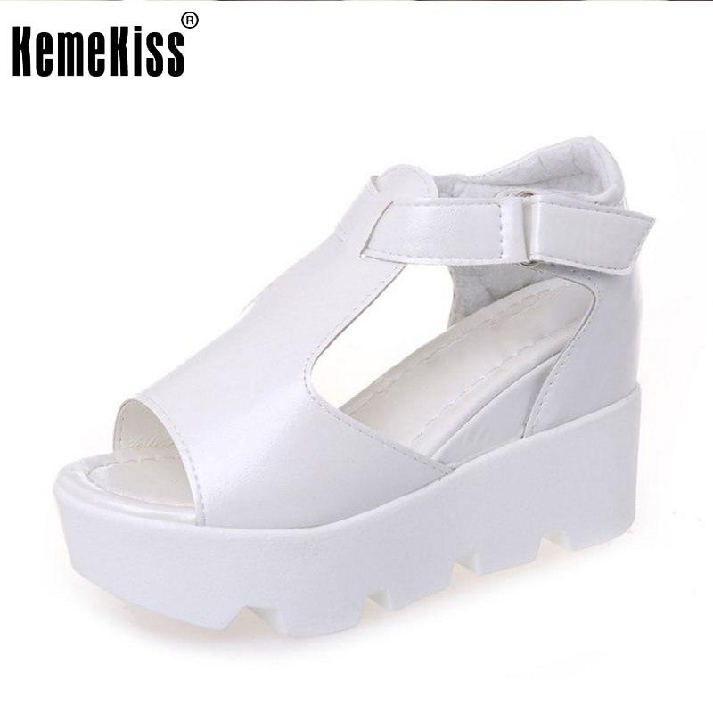 Summer New Arrived Women Wedges High Heels Sandals Peep Toe Shoe Platform Leisure Shoes Ladies Fashion Footwear Size 34-40