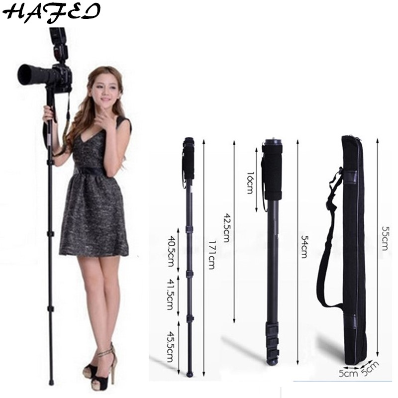 HAFEI Professional Tripods Portable Camera Monopod WT 1003 For Nikon D3200 D3100 D5000 D7000 DSLR SLR Lightweight Max:67