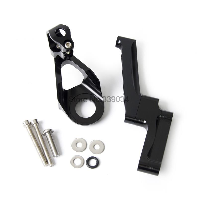 ФОТО CNC Steering Damper Mounting Kit  for Suzuki GSX1300R Hayabusa 1998 1999 2000 2011 2012 2013 2014 2015