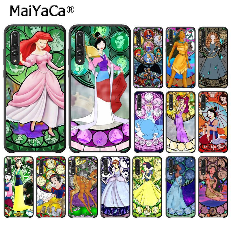 MaiYaCa Mulan Stained Glass Princess Ariel Phone Case for Huawei P20Lite P10 Plus Mate9 10 Mate10 Lite P20 Pro Honor10 View10