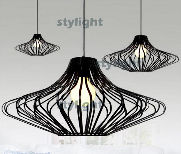 UFO iron cage pendant lamp UFO pendant light suspension lamp hanging lighting fixture dinning room kitchen sitting room cafe bar