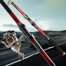 Superhard Telescopic Carbon Fiber Sea Fishing Spinning Reel Rod Casting Pole
