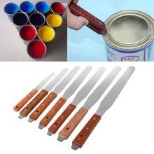 Нержавеющая сталь инкинг клей-краска нож для смешивания Рисование Шпатель скребок текстуры скребка