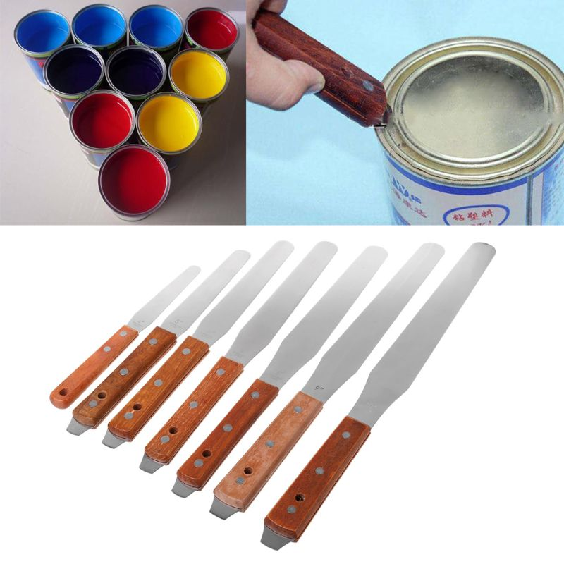 Stainless Steel Inking Paint Glue Mixing Knife Draw Spatula Scrape Texture Scraper