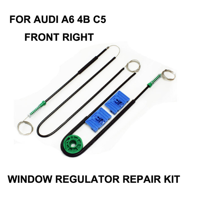NEW! CAR PARTS FOR AUDI A6 ELECTRIC WINDOW REGULATOR REPAIR KIT FRONT RIGHT 1996-2004
