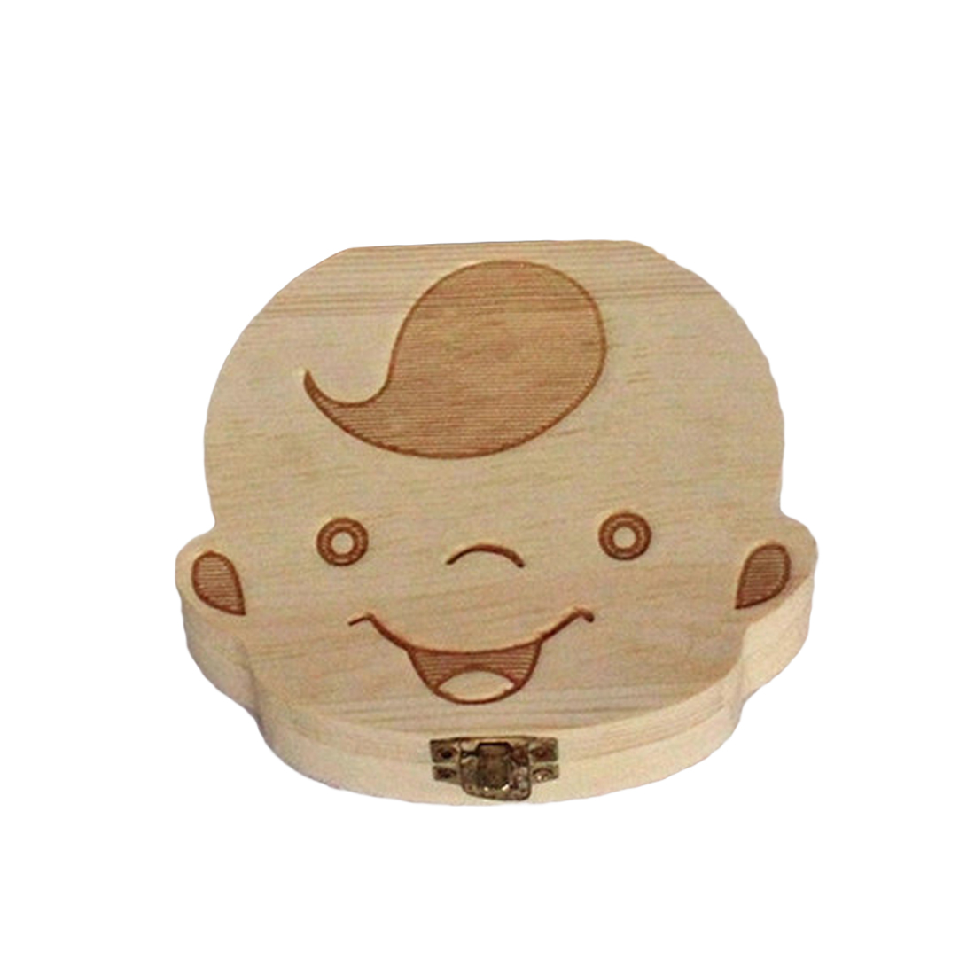 Wooden Kids Baby Tooth Box storage box Organizer Milk Teeth Wood Storage Baby Teeth Box for Boy Girl Save Teeth Umbilical Cord