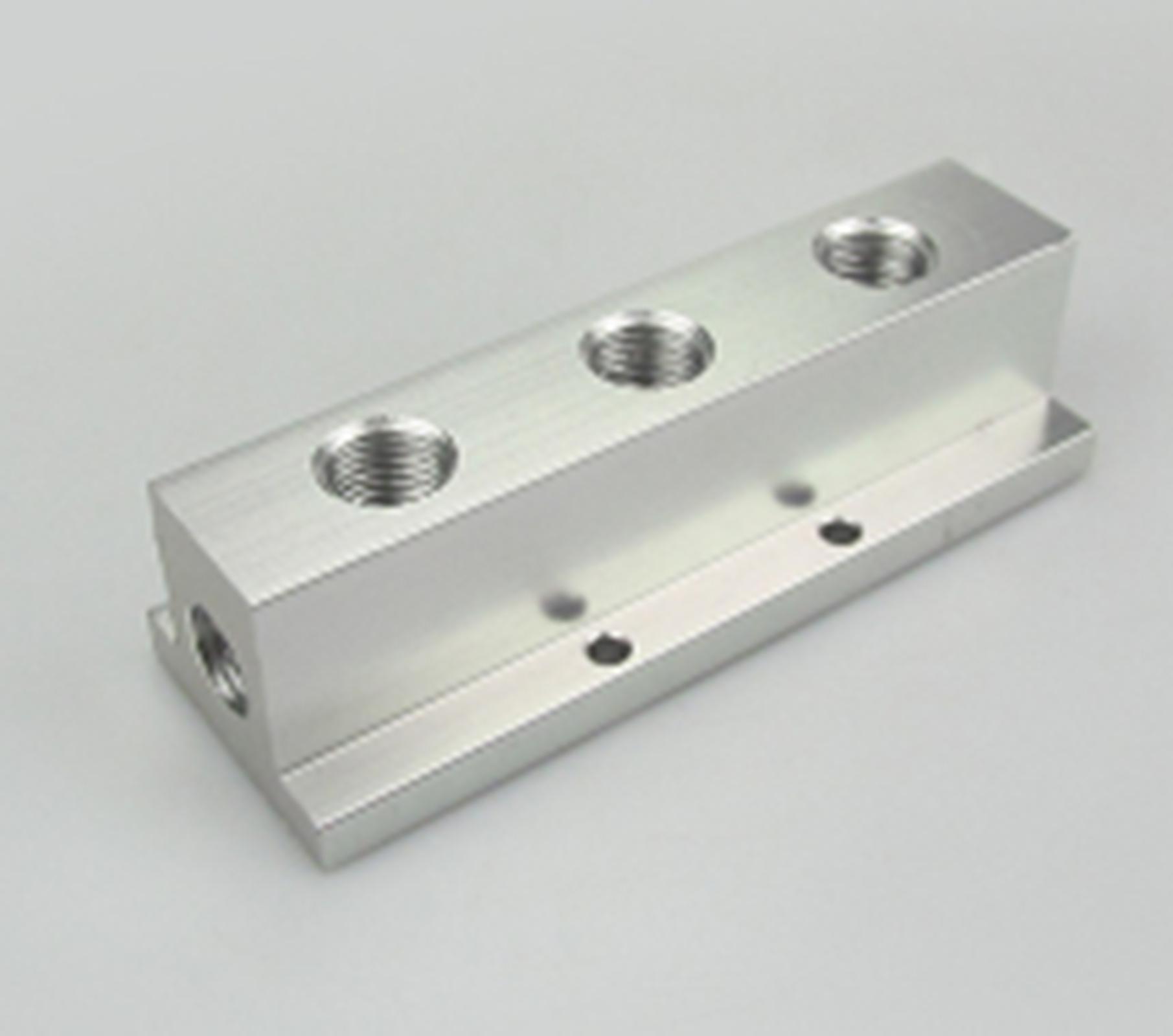 1/4 BSP Female 3 Way Solid Aluminum T-Shape Air Manifold Block Splitter1/4 BSP Female 3 Way Solid Aluminum T-Shape Air Manifold Block Splitter