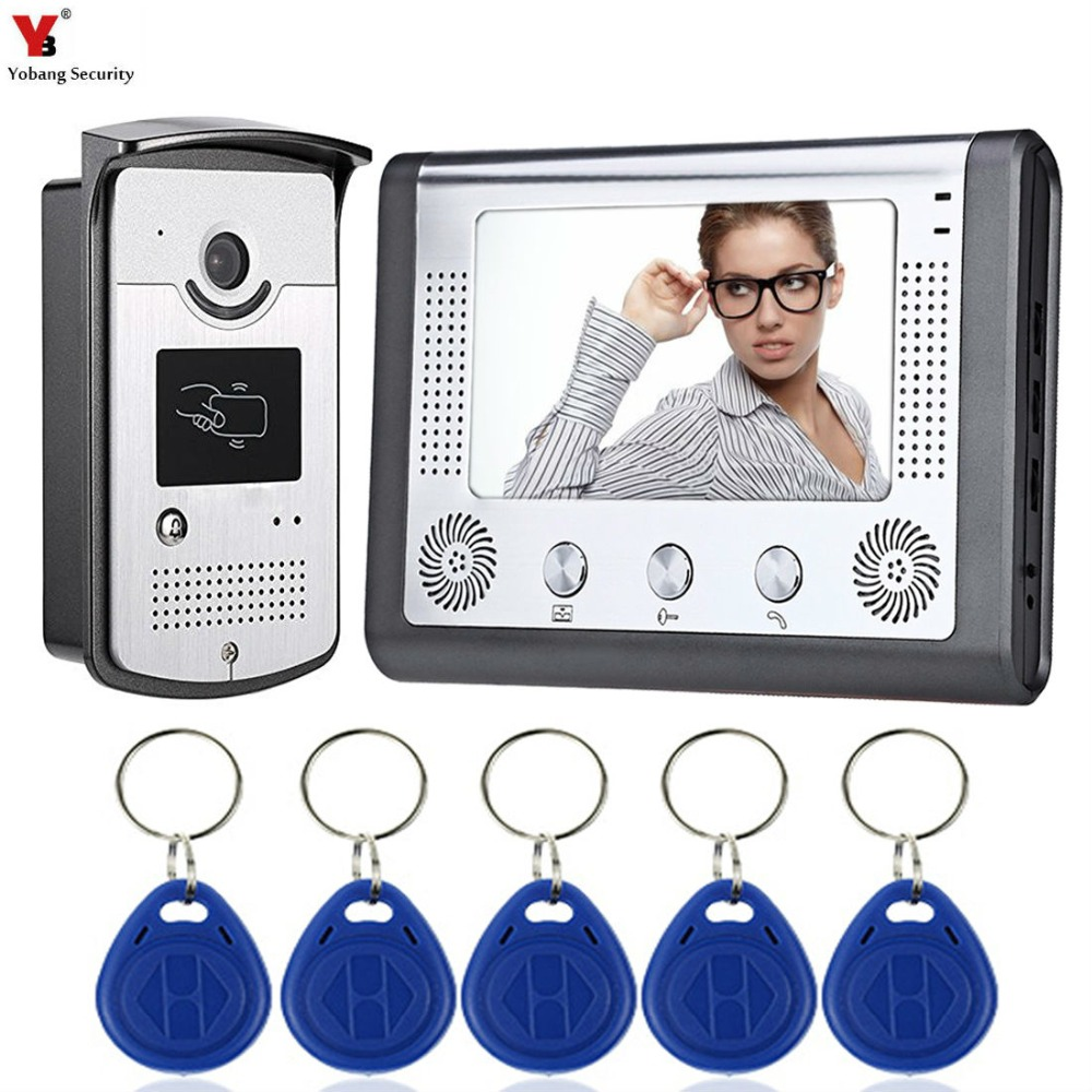 7 TFT Color Wired Video Intercom Door Phone Doorbell System for home 700TVL IR Night Vision with RIFD Card Outdoor Camera7 TFT Color Wired Video Intercom Door Phone Doorbell System for home 700TVL IR Night Vision with RIFD Card Outdoor Camera