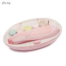Oeak 6 в 1, детская пилочка для ногтей на пальцах, маникюрный набор, устройство для измельчения ногтей для новорожденных