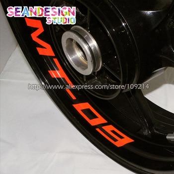 For yamaha MT09 MT07 Motorcycle Wheel Sticker Decal Reflective Rim Bike Motorcycle Suitable crash bar mt 09