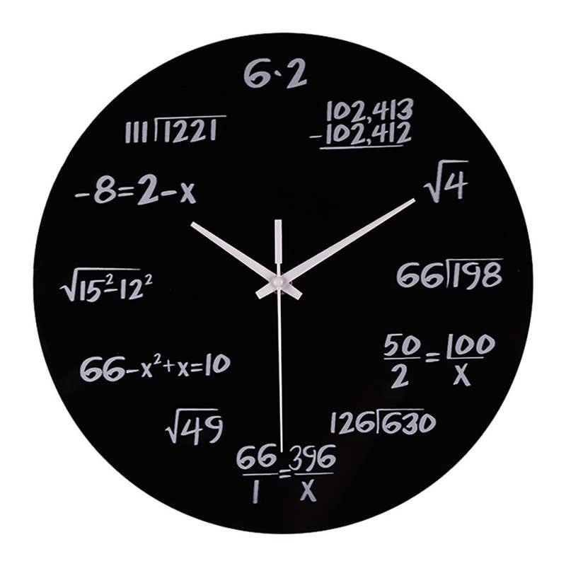 Amecor Creative Silent Math Equations  Surface Art  Wall Clocks Decorative Clock digital clock wall children mechanism 19jan30