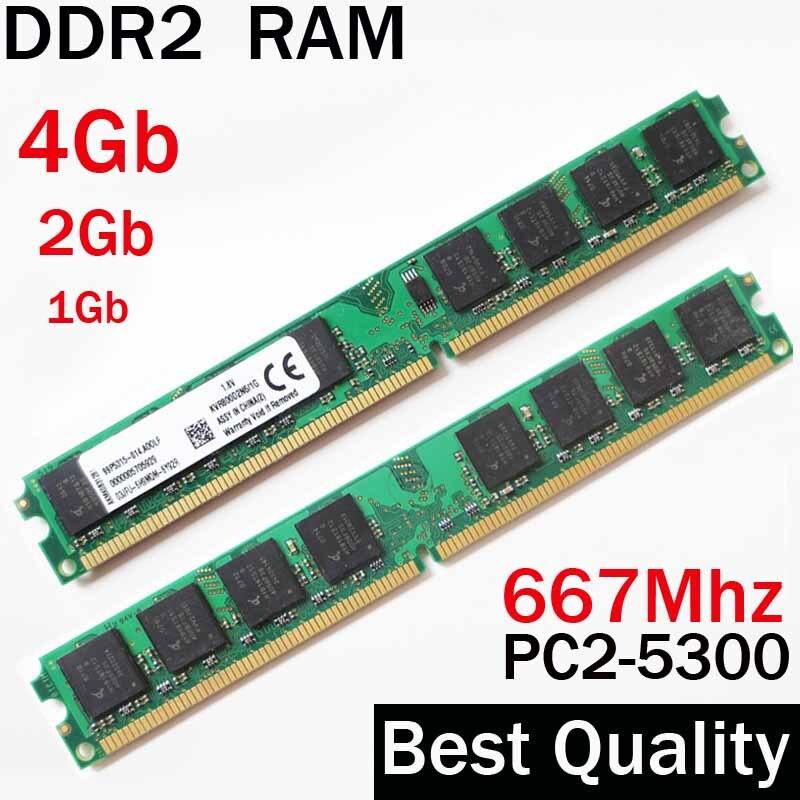 DDR2 2Gb RAM Ddr2 667 4Gb 2Gb 1Gb - 667Mhz / For AMD For Intel Desktop Memory Ram 2Gb Ddr2 4G Ddr 2 2 Gb 2 G Memoria PC2 5300
