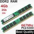 Desktop RAM DDR2 667 4Gb 2Gb 1 гб - 667Mhz  dual channel / For AMD - for Intel memory ram 2Gb ddr2 4G ddr 2 memoria PC2 - 5300
