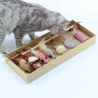 7 Pcs Cat Toys Variety Pack Dog Toy Funny Cat Mouse Sisal Baby Cat Love Toy Set Dropshipping Mar25
