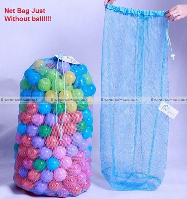 Great SMB Kids Ball Pit Balls Storage Net Bag Toys Organizer For 300 Balls  Without Ball 40415329