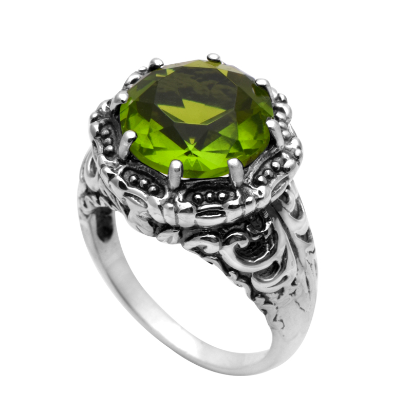 Cheap Sterling Silver Peridot Rings