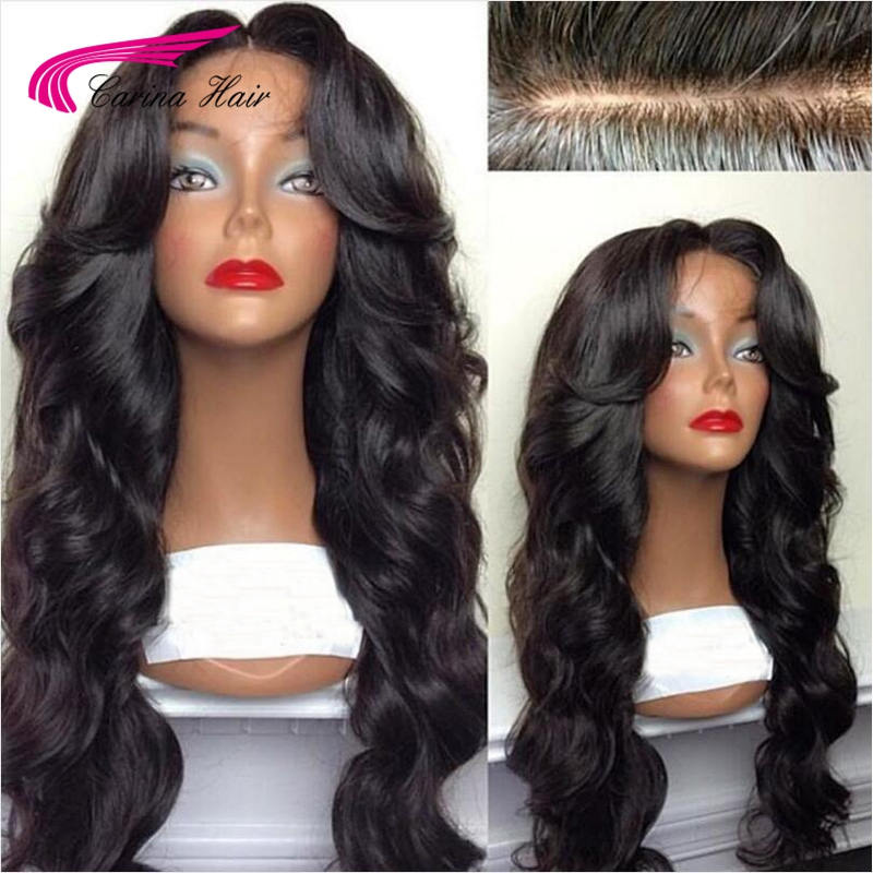 Carina Hair Silk Base Lace Front Hair Wigs With Pre-Plucked Hairline 180% Density Brazilian Remy Hair Wigs With Baby Hair
