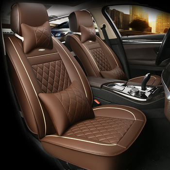 HLFNTF Leather seat cushion Univers Car Seat cover For SEAT LEON Ibiza Cordoba Toledo Marbella Terra RONDA car accessories