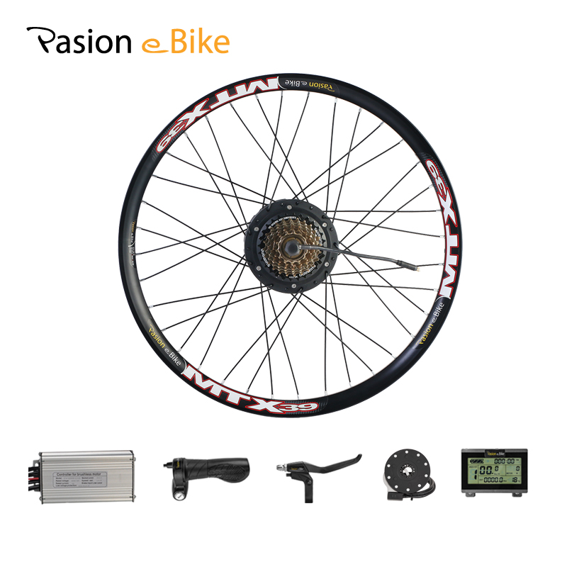 все цены на PASION E BIKE Conversion Kit 48V 500W Bafang Hub Motor Set For Electric Bike Conversion Kit 8FUN BAFANG Engine Rear Wheel Motor онлайн