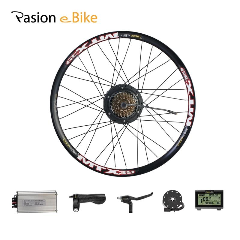 PASION E BIKE Conversion Kit 48V 500W Bafang Hub Motor Set For Electric Bike Conversion Kit 8FUN BAFANG Engine Rear Wheel Motor
