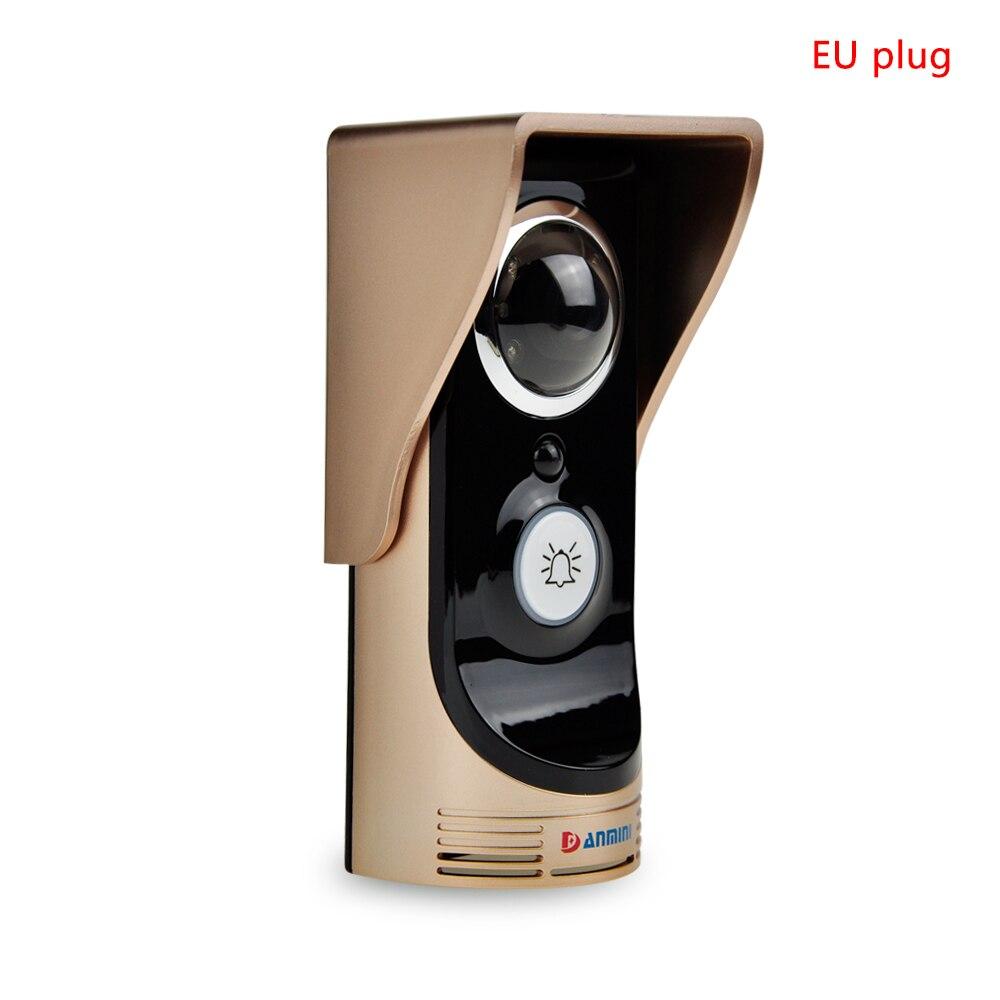 Smart WiFi Video Doorbell Peephole Viewer Remote Unlocking Doorbell For Smart Home Security Monitoring