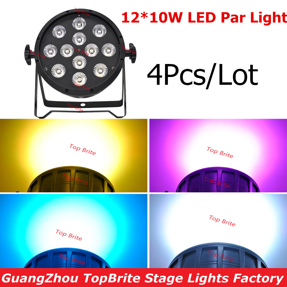 Free Shipping New 4Pcs/Lot 12x10W 4in1 RGBW Led Par Party Star Show Stage Lights With DMX512 DJ Disco Light Sound Equipments 2pcs lot rgbw double head 8x10w led beam light mini led spider light dmx512 control for stage disco dj equipments free shipping
