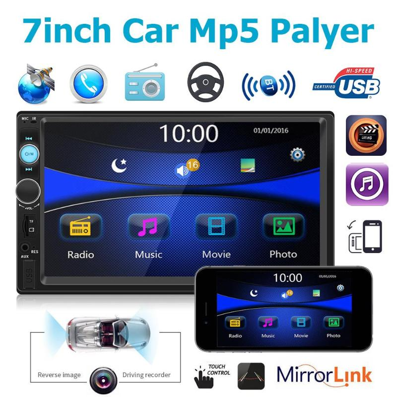 1024*600 <font><b>7010G</b></font> 7in Screen Car Stereo MP5 Player GPS Navigation Bluetooth FM Radio Head Unit MP3/WMA/WAV/OGG/FLAC/APERM/RMVB/MP4 image
