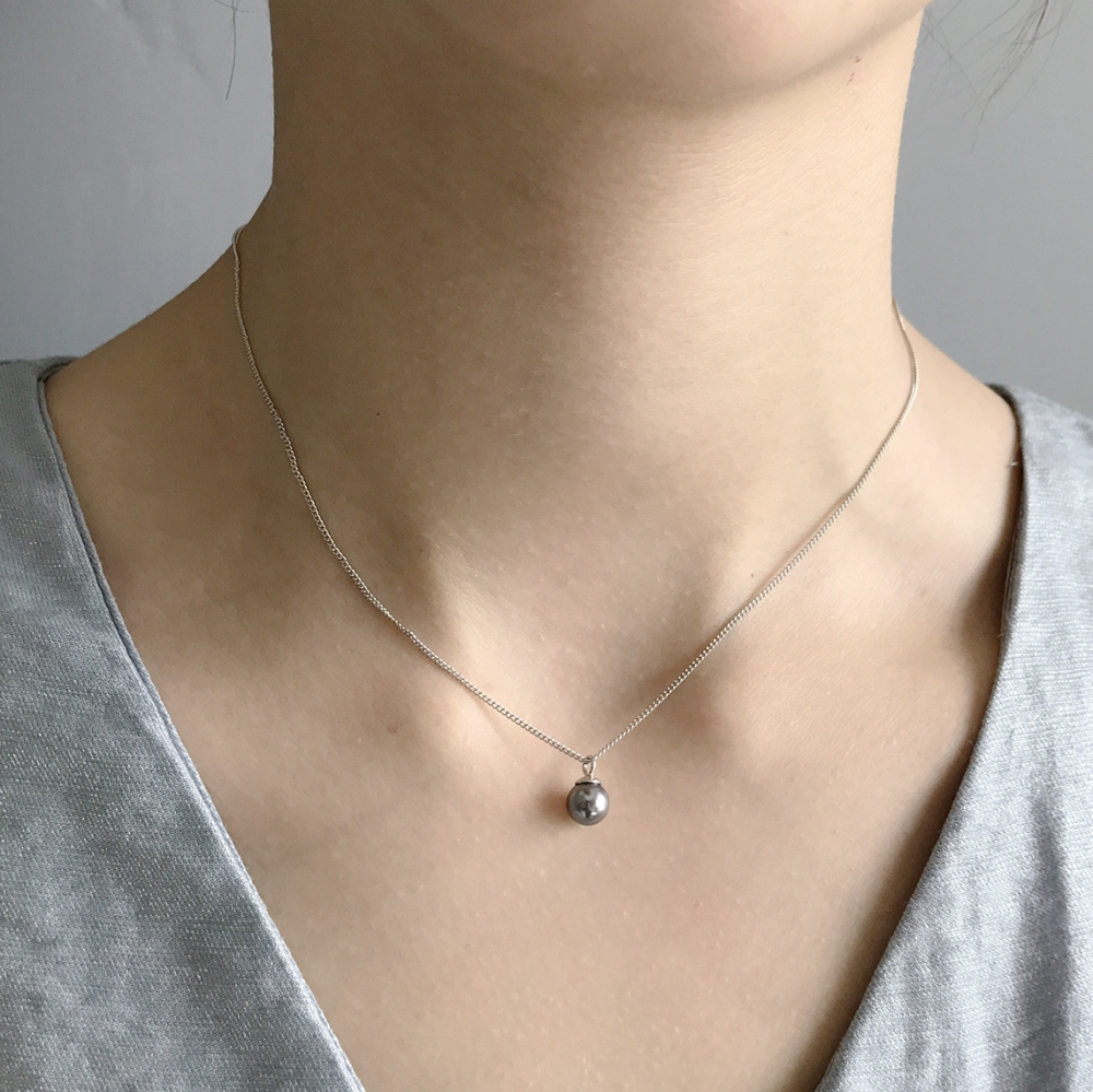 925 Sterling Silver Single Real Natural AAA Black Tahitian Freshwater Pearl Pendant Bridesmaid Necklace For Women Jewelry Gift925 Sterling Silver Single Real Natural AAA Black Tahitian Freshwater Pearl Pendant Bridesmaid Necklace For Women Jewelry Gift