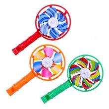 Цветные маленькие ветряные мельницы, детские пластиковые детали, ветряные мельницы со свистящей ручкой, пластиковые детские игрушки