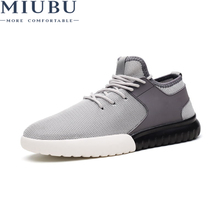 MIUBU Hot Breathable Men Sneakers Male Shoes Adult Black High Quality Comfortable Non-slip Soft Summer Casual 2019