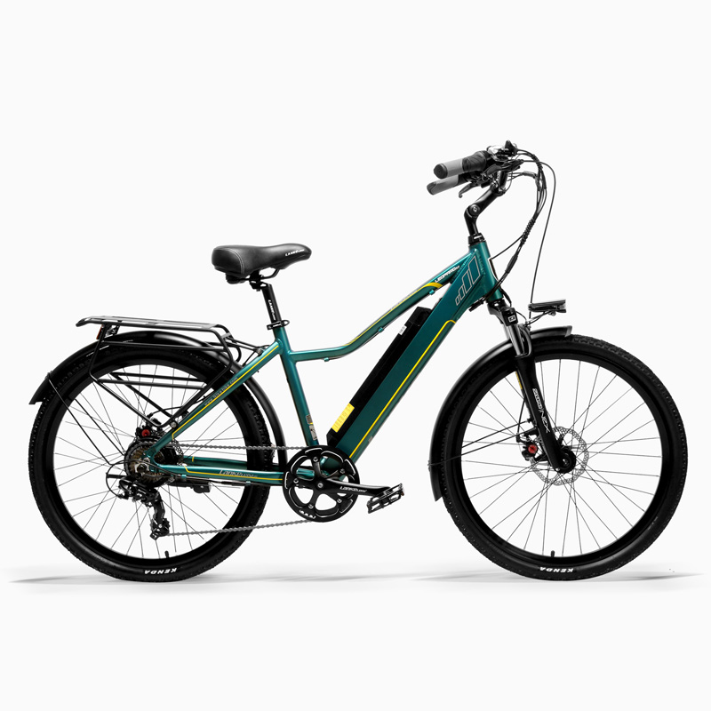 Pard3.0 26 Inch Lady City Bike, 36V 300W Electric Bicycle, With LCD Display, Pedal Assisted E-bike, 7 Speed Derailleur