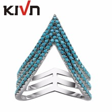 KIVN Womens Fashion Jewelry CZ Cubic Zirconia Wedding Bridal Engagement Rings Promotion Girls Mothers Birthday Christmas Gifts
